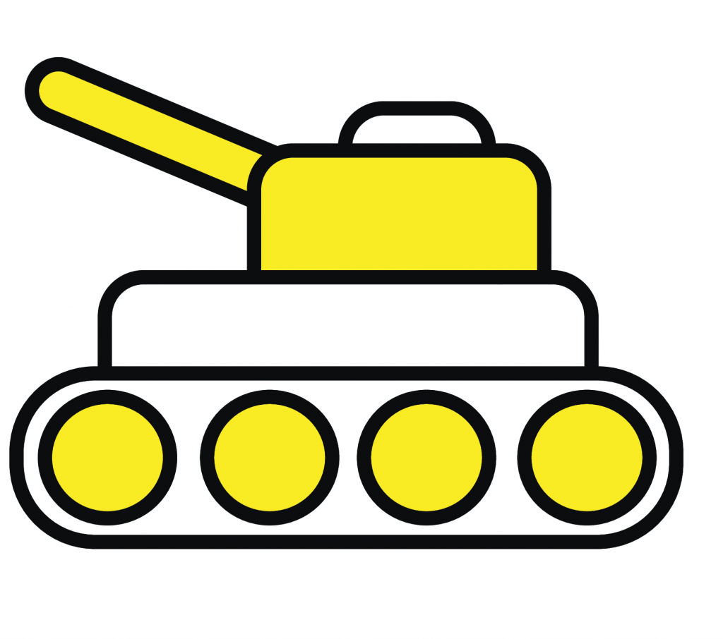 A picture of a yellow Tank