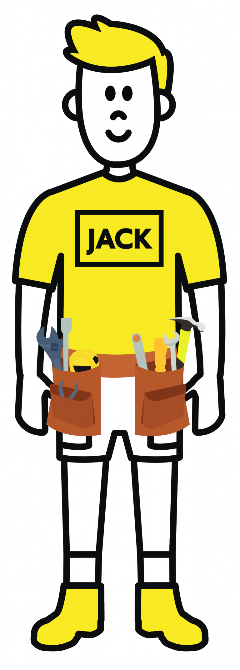 A picture of Jack with his toolbelt